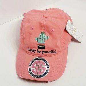 Simply Southern   100% Cotton Pink Baseball Cap